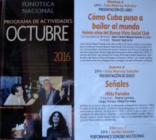 Presentación en la Fonoteca Nacional de México