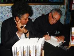 Con Mariam Nuñez en la presentación en Barcelona